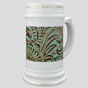 bohemian country western leather Stein