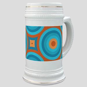 Orange and Blue Mid Century Modern Stein