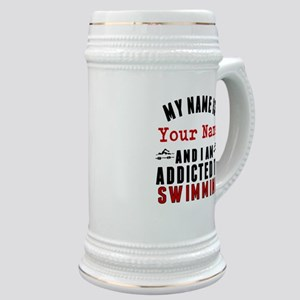 Addicted To Swimming Stein