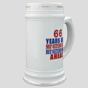 66 Getting More Ahead Birthday Stein