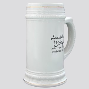 Couples Names Wedding Personalized Stein