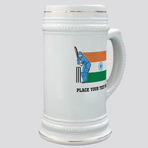 Personalize India Cricket Stein