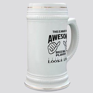 This is what an awesome Bocce ball player Stein