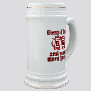Cheers And Beers 66 And Many More Years Stein