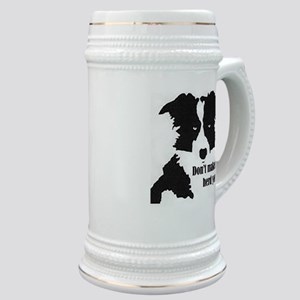 Border Collie Art Stein