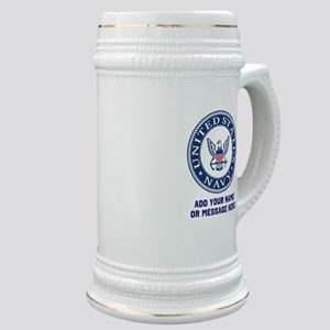 US Navy Symbol Personalized Stein