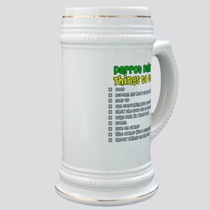 Parrot Things to Do List Stein