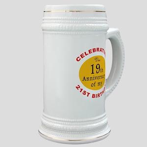 Celebrating 40th Birthday Stein