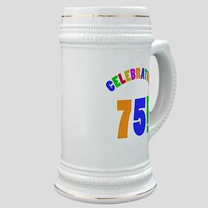 Rainbow 75th Birthday Party Stein
