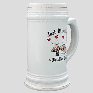 Just Married (Add Your Wedding Date) Stein