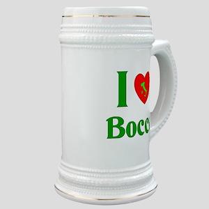 I Love Bocce Stein