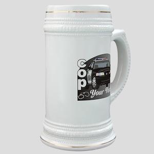 Custom Personalized Cop Stein