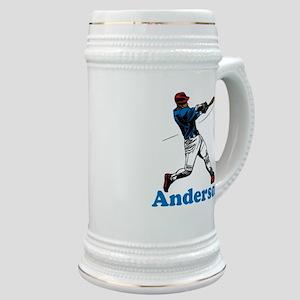 Personalized Baseball Stein