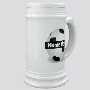 Personalized Soccer Ball Stein