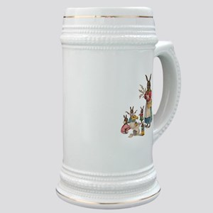 Vintage Easter Bunny with Spring Flowers Stein