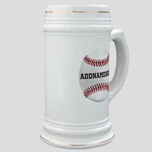 Personalized Baseball Red/White Stein