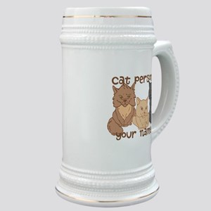 Personalized Cat Person Stein