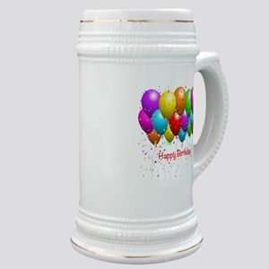 Happy Birthday Balloons Stein
