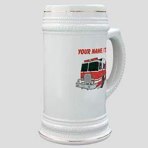 Custom Red Fire Truck Stein