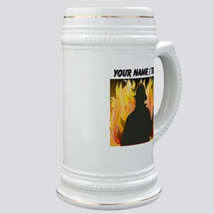 Custom Silhouetted Firefighter Stein