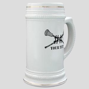 Lacrosse Camo Sticks Crossed Personalize Stein