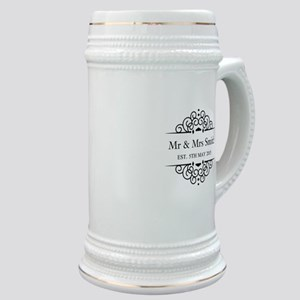 Custom Couples Name and wedding date Stein