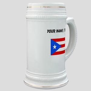 Custom Puerto Rico Flag Stein