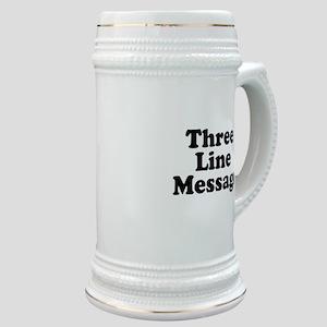 Big Three Line Message Stein