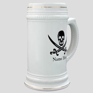 Custom Pirate Design Stein
