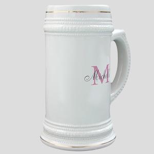 Personalized pink monogram Stein
