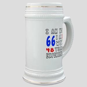 I am not 66 Birthday Designs Stein