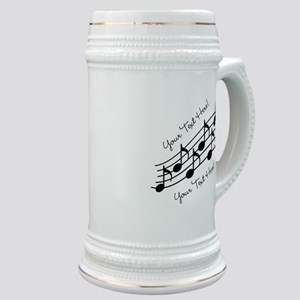 Music Notes PERSONALIZED Stein