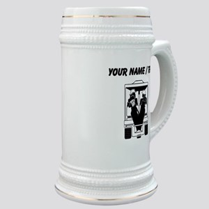 Custom Golfers On Golf Cart Stein