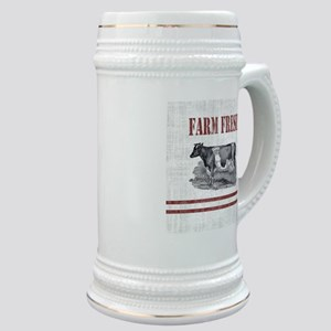 Country Chic Cow Farmhouse Stein