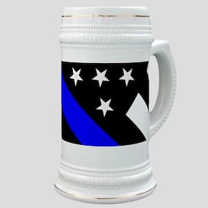 Police Flag: Thin Blue Line Stein