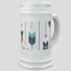 Tribal Arrows Pattern - Navy Orange and Mint Stein
