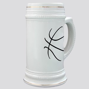 Basketball Ball Lines Black Stein