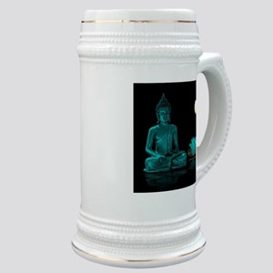 Teal Colour Buddha Stein
