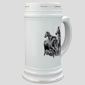 Wild Horses Illustration Stein