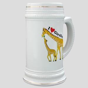 I Love Giraffes Stein