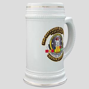 SSI - 3rd Bn - 1st Marines w VN SVC Ribbon Stein