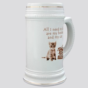 Cats and books Stein