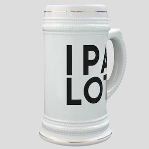 IPA LOT. I PEE A LOT. BEER HUMOR. Stein