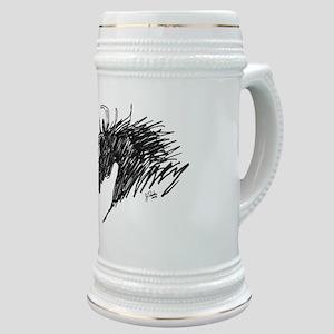 Horse Head Art Stein