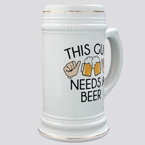 This Guy Needs A Beer Stein