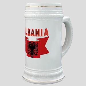 flag Albania Ribbon Stein