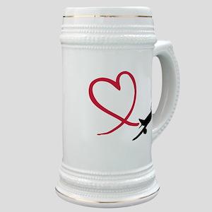 Airplane red heart Stein