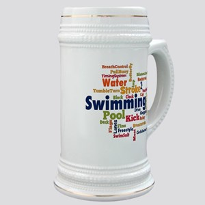 Swimming Word Cloud Stein