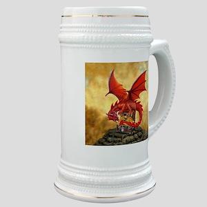 Red Dragon's Treasure Chest Stein