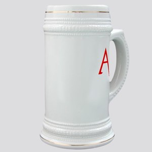 RED A SHIRT SCARLET LETTER EA Stein